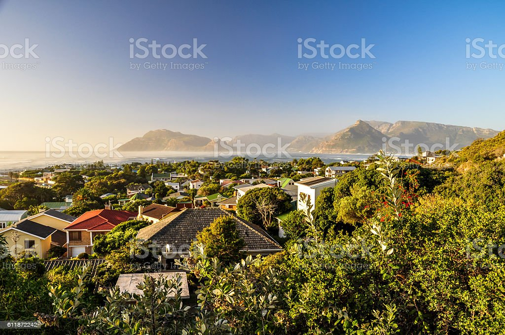 Kommetjie in the evening - Western Cape Province, South Africa stock photo