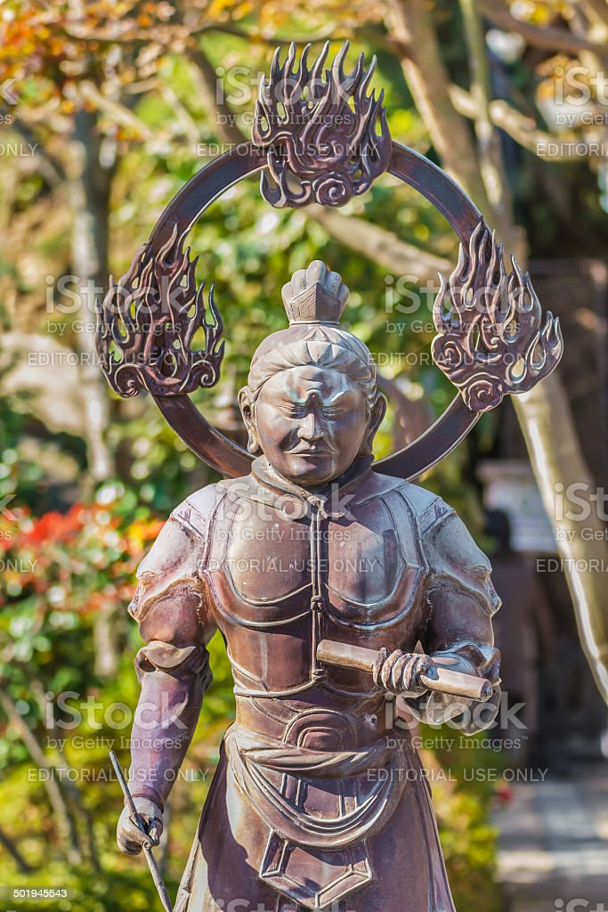 Komokuten- the West guardian ofthe Buddha stock photo