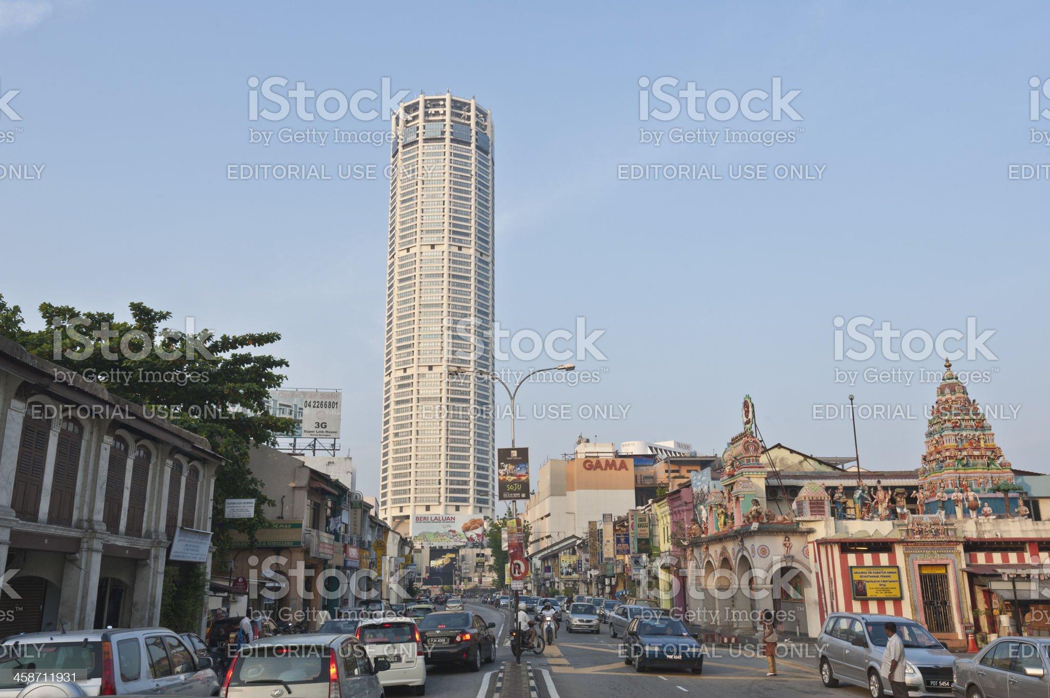 Komtar Tower, Penang, Malaysia royalty-free stock photo