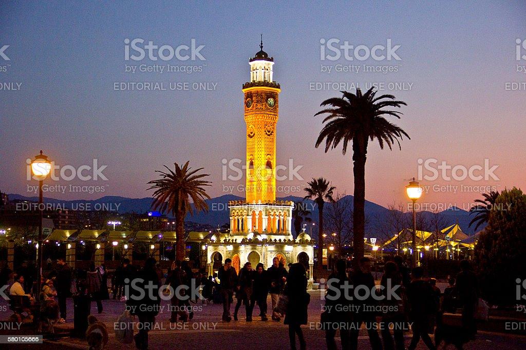 konak square in İzmir stock photo