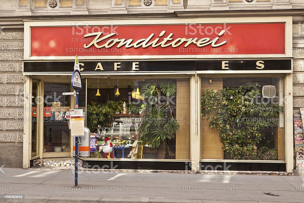 konditorei in Vienna royalty-free stock photo