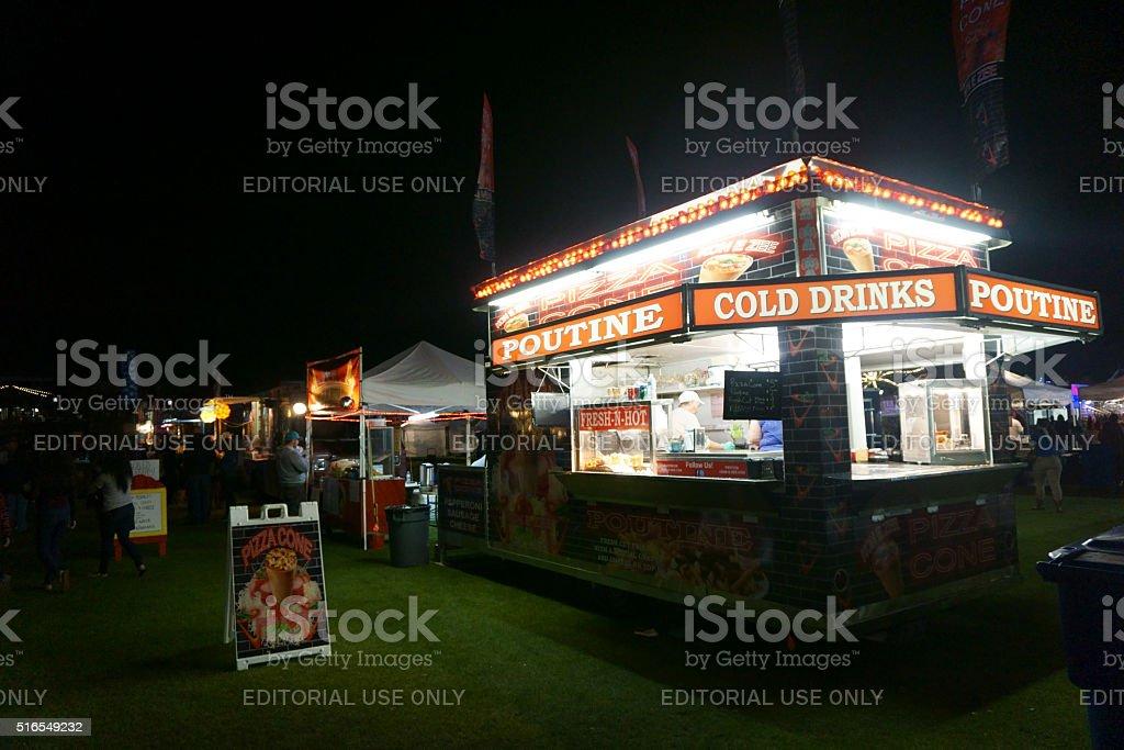 Kon-E-Zee food truck at a community festival night shot stock photo