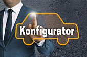 Konfigurator (in german Configurator) auto touchscreen is operat