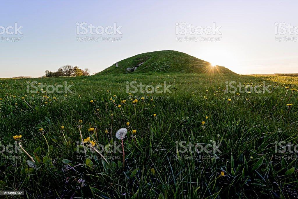Kong Asgers Høj Burial Mound Møn Denmark stock photo
