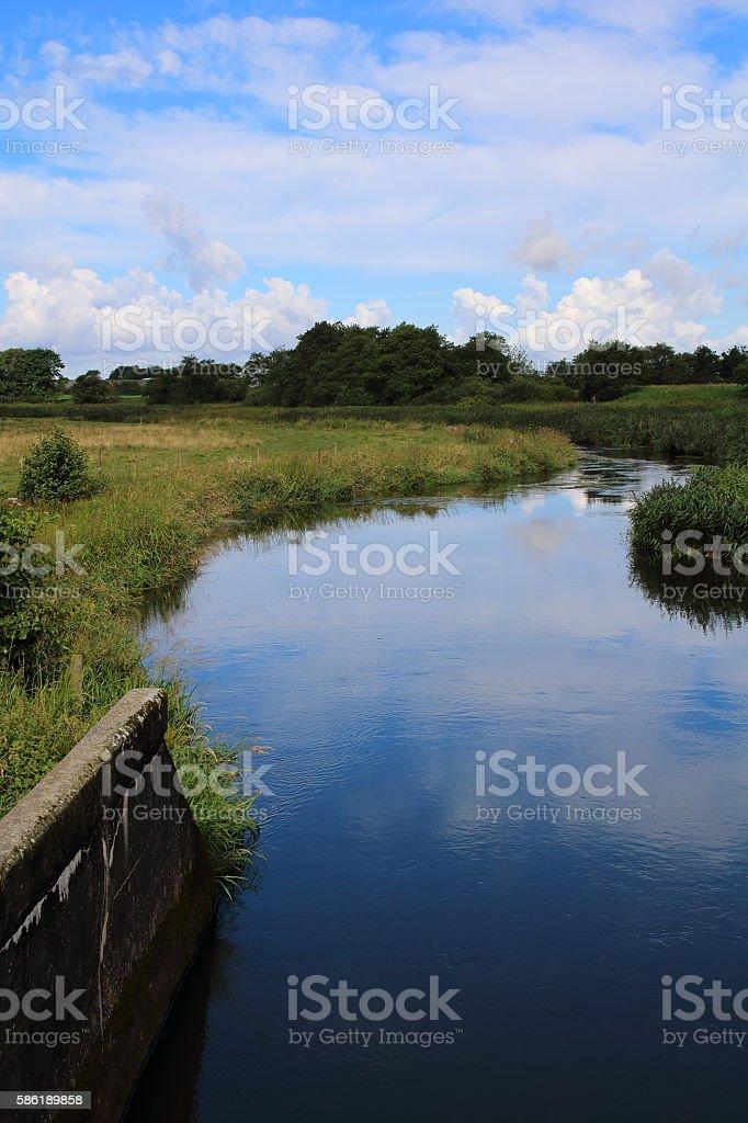 Kongeåen (Kings River) - Jutland, Denmark stock photo