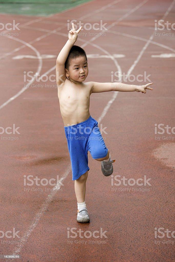 KongFu boy stock photo