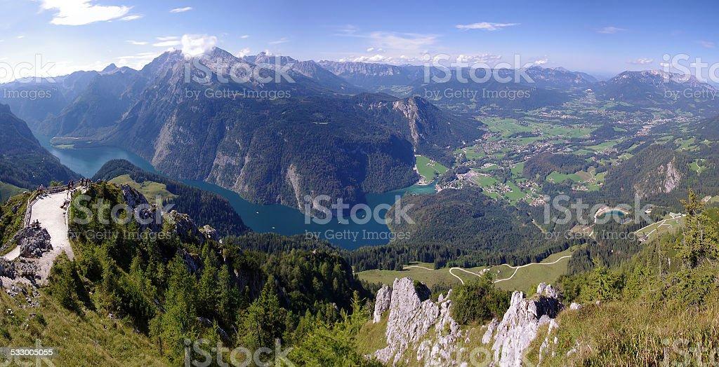 Konigsee lake in Bavarian Alps stock photo