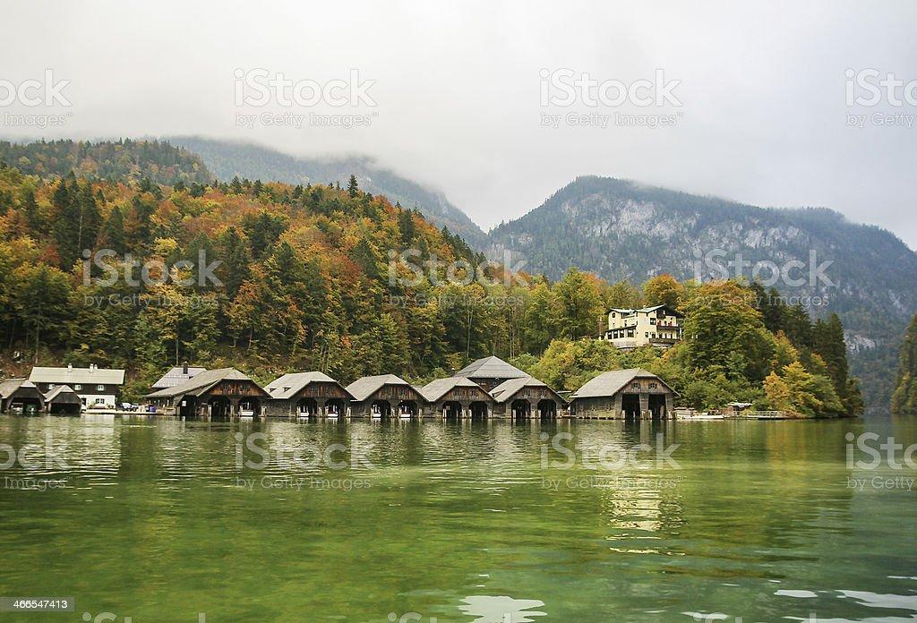 Konigssee lake, Germany stock photo