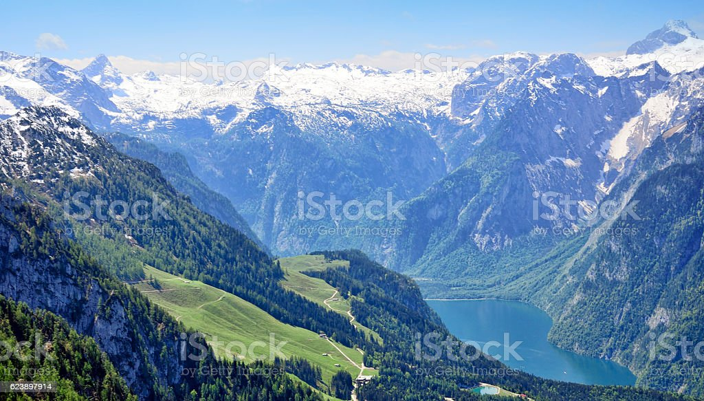 Konigssee lake stock photo