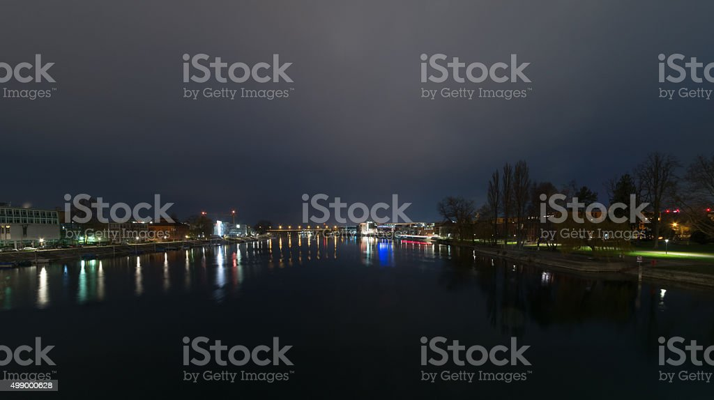 Konstanz Rhine Industrial area stock photo