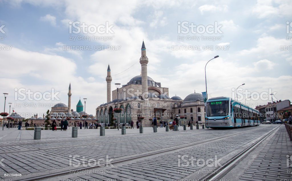 konya city scene stock photo