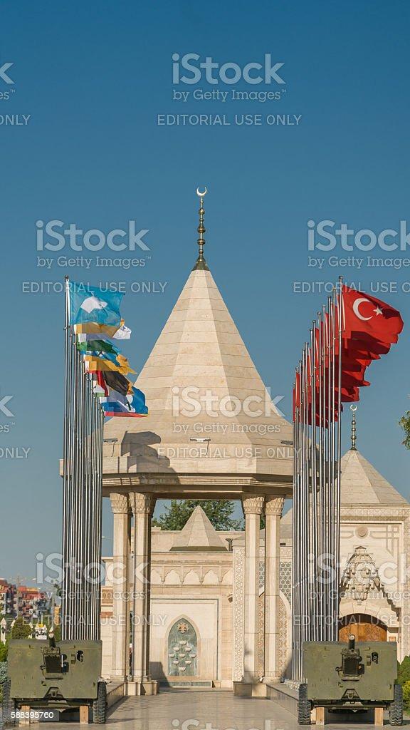 Konya martyrs cemetery stock photo