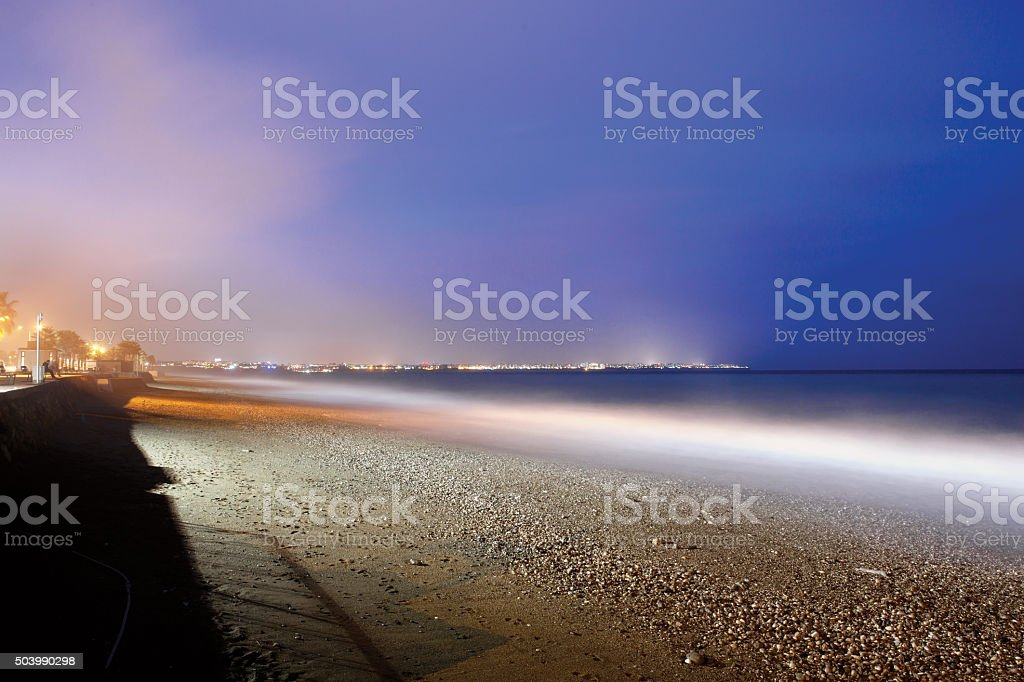 Konyaalti Beach Long Exposure stock photo