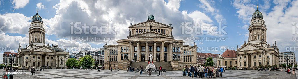 Konzerthaus and French and German Cathedrals, Gendarmenmarkt, Berlin, Germany stock photo