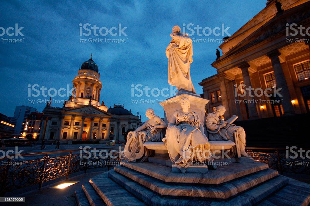 Konzerthaus and German cathedral (Gendarmenmarkt) in Berlin stock photo