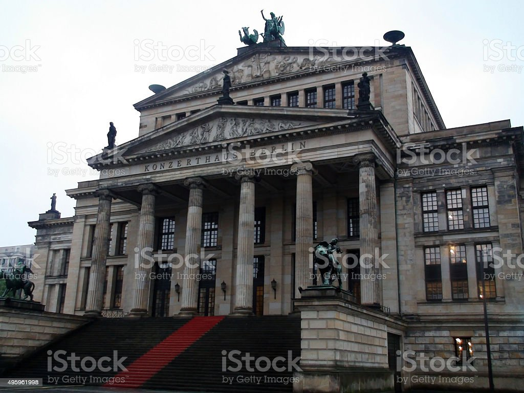 Konzerthaus Berlin At Gerndermamarkt Berlin Germany,Europe stock photo