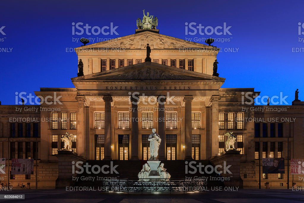 Konzerthaus on the Gendarmenmarkt in Berlin stock photo