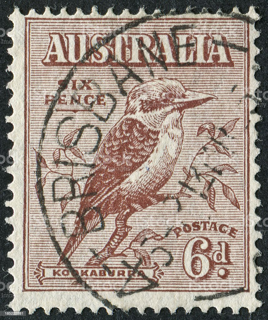 Kookaburra Stamp royalty-free stock photo