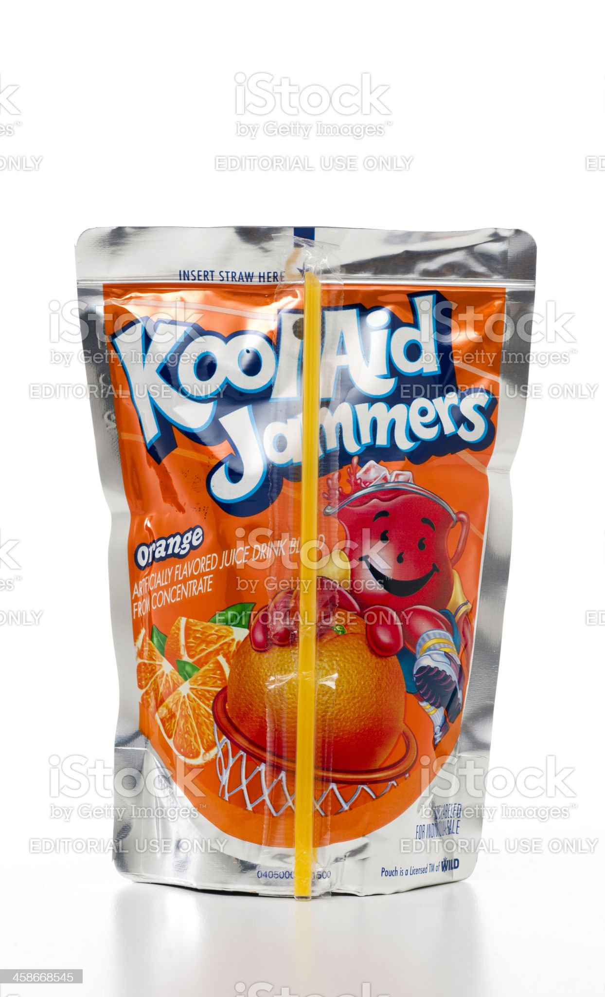 Kool-Aid Jammers Orange flavored pouch royalty-free stock photo