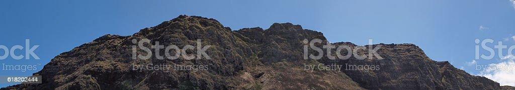 Koolau Mountain Range on Oahu stock photo