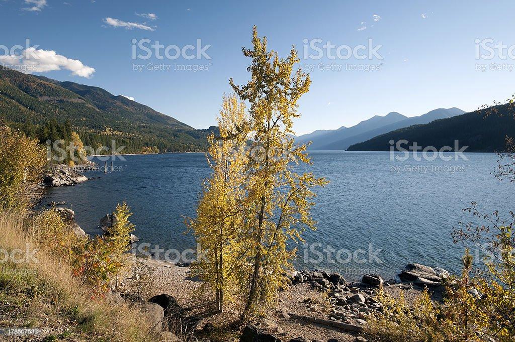 Kootenay Lake and Purcell Mountains, British Columbia stock photo