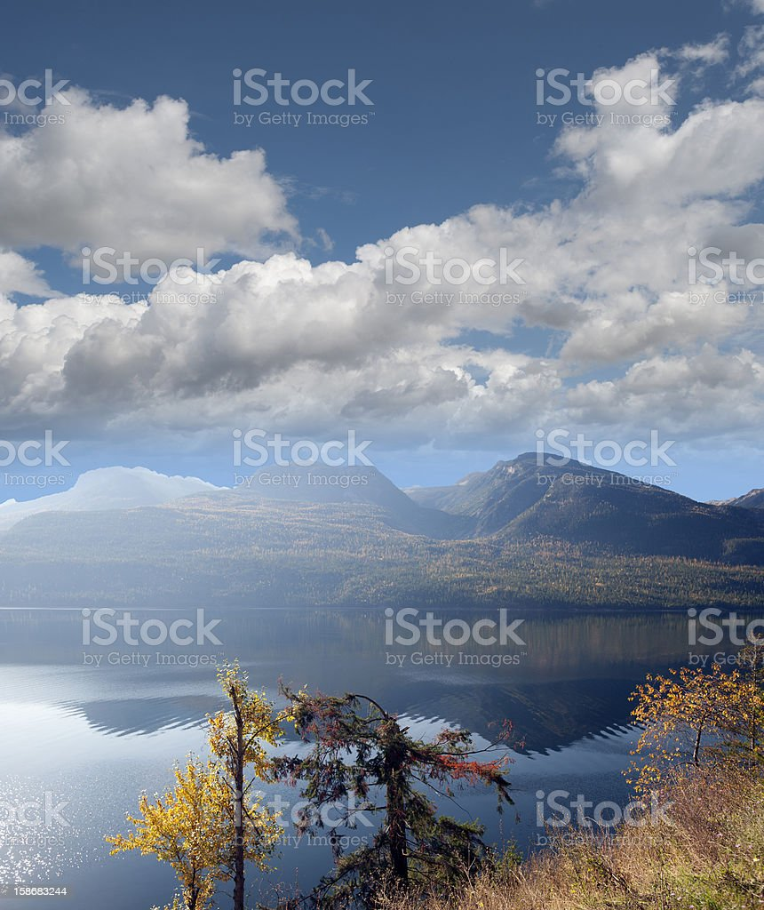 Kootenay Lake and Purcell Mountains stock photo
