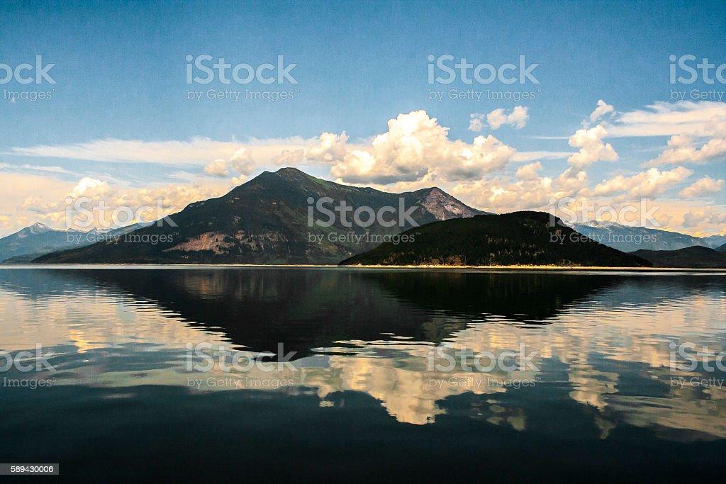 Kootenay Lake, BC stock photo