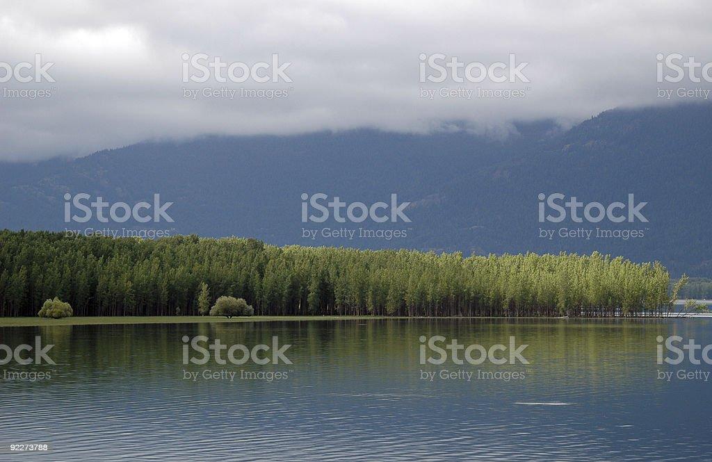 Kootenay Lake, British Columbia stock photo