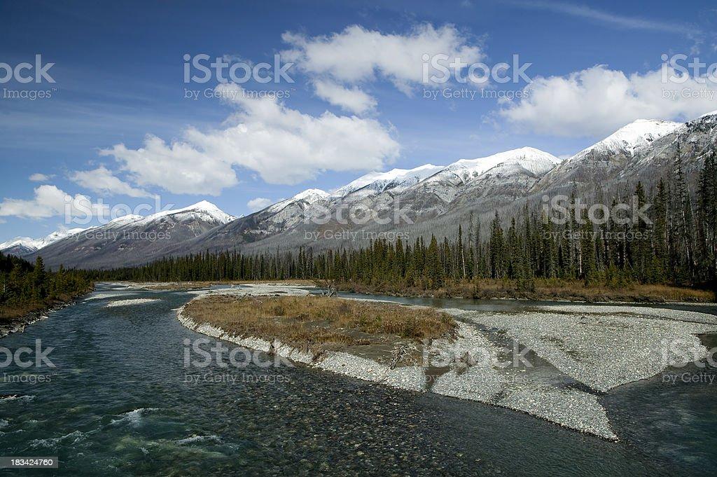 kootenay national park canadian rockies stock photo