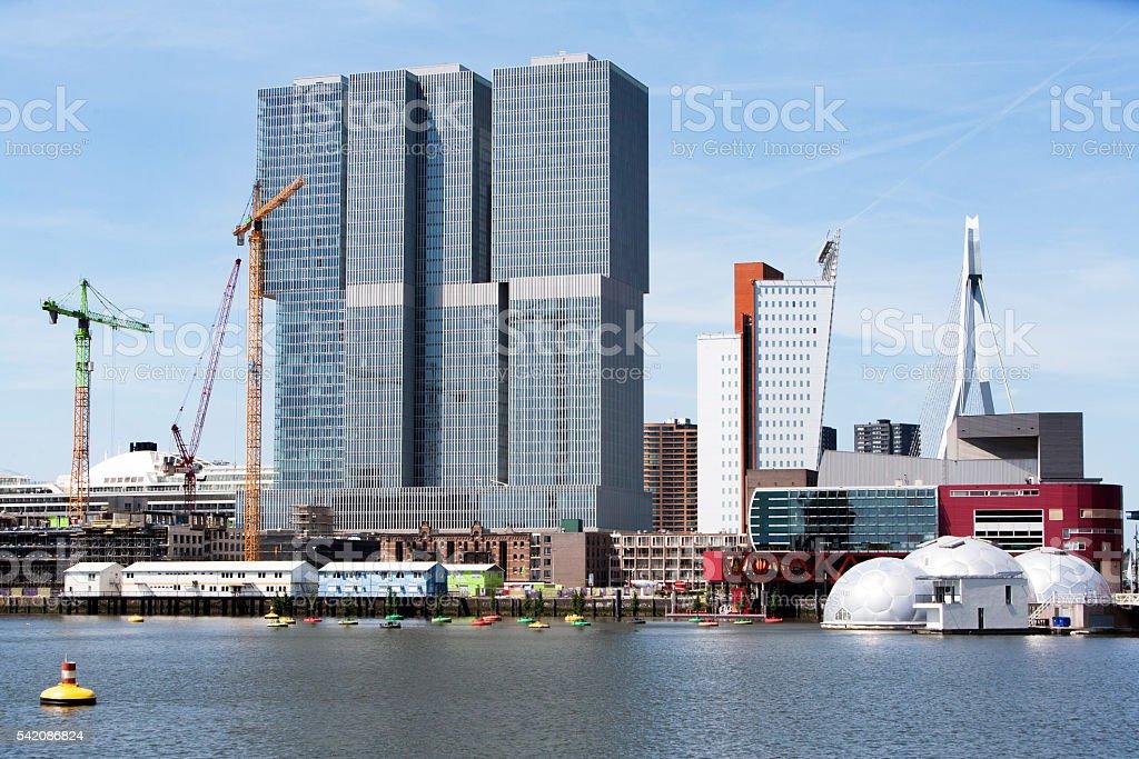 Kop van Zuid district in Rotterdam stock photo