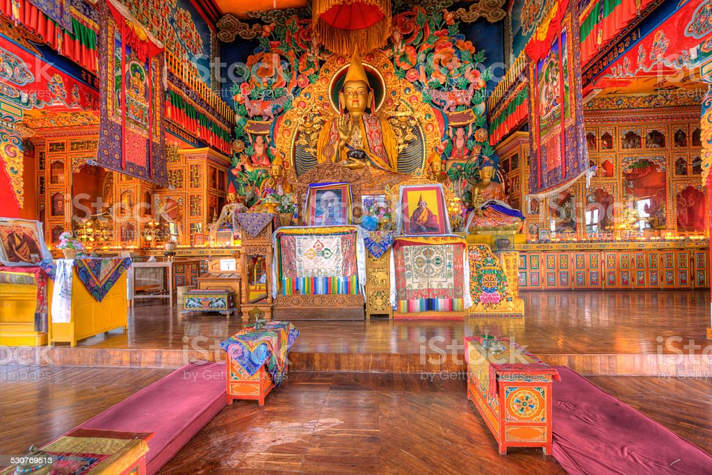 kopan monastery located near kathmandu stock photo