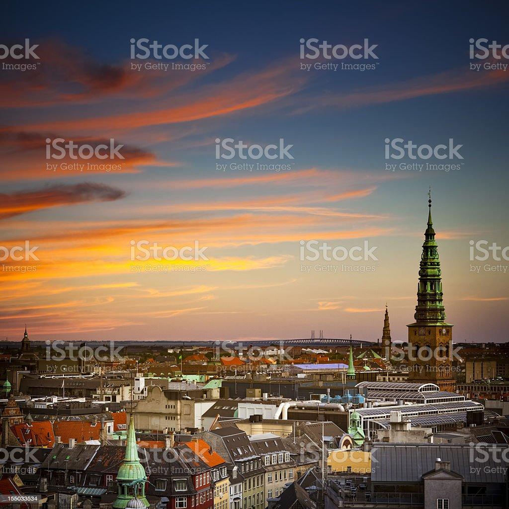 Kopenhagen Sunset stock photo