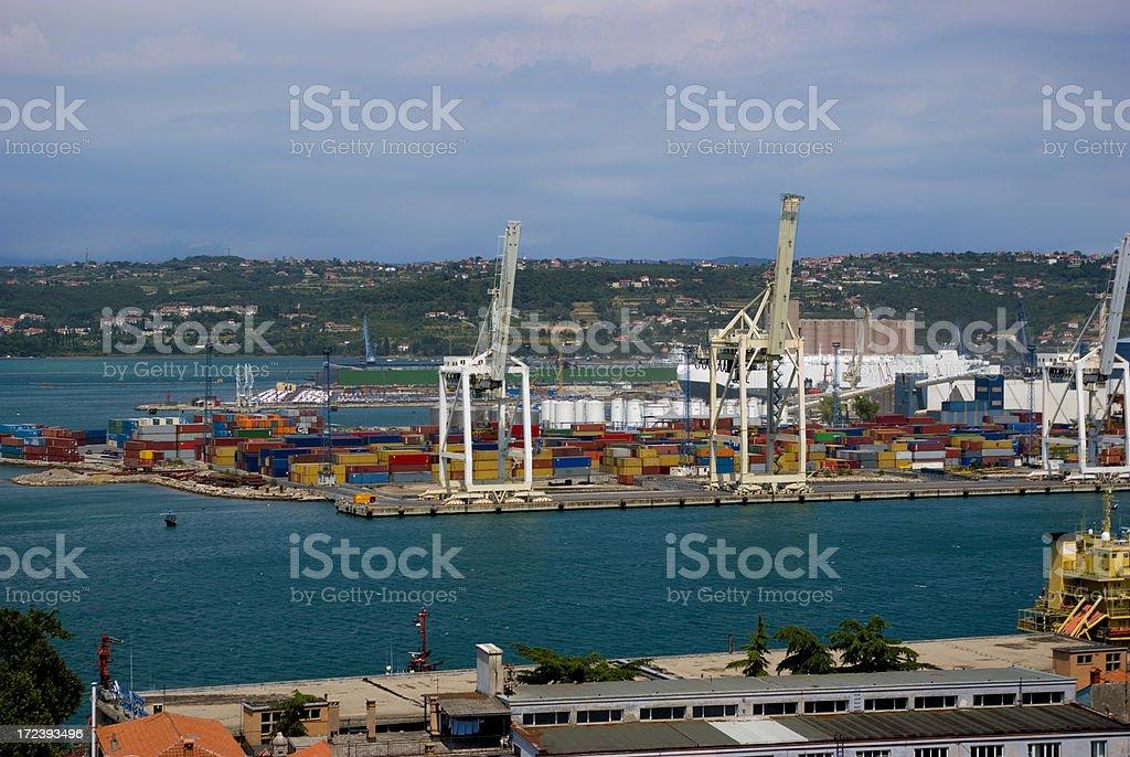 Koper Port royalty-free stock photo