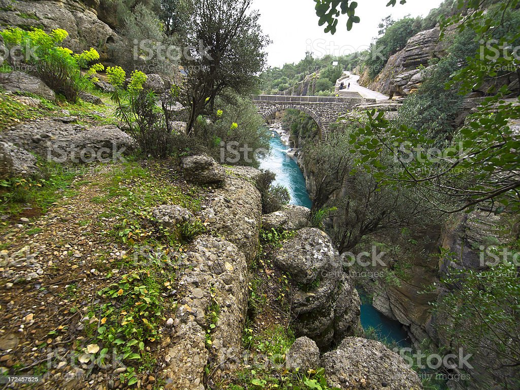 Koprolu Kanyon bridge stock photo