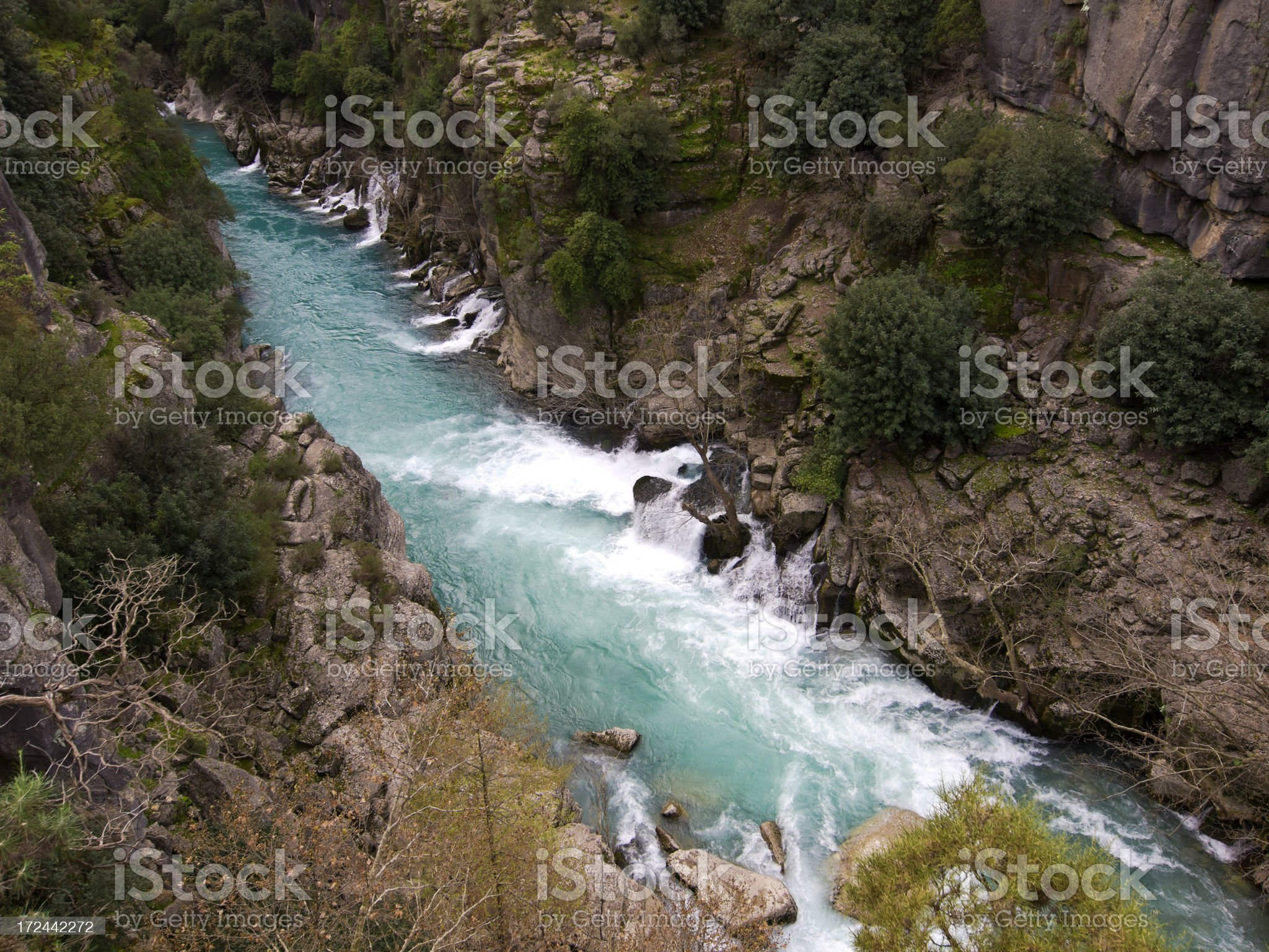 Koprolu Kanyon springs royalty-free stock photo