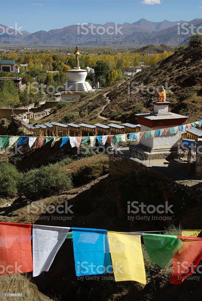 Kora trail of Tashilunpo monastery (Shigatze, Tibet) royalty-free stock photo
