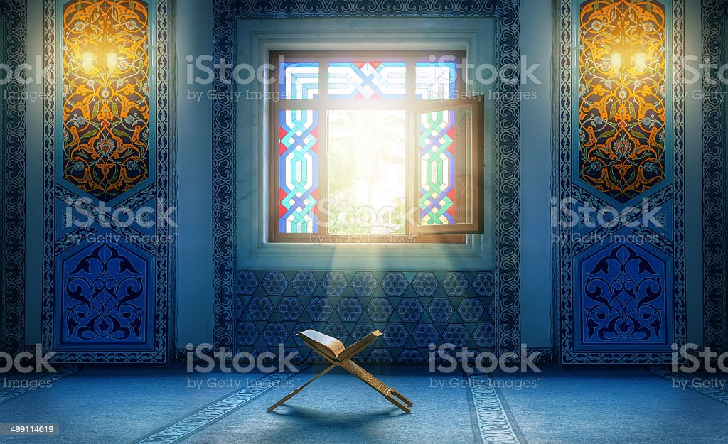 Koran - holy book of muslim. stock photo
