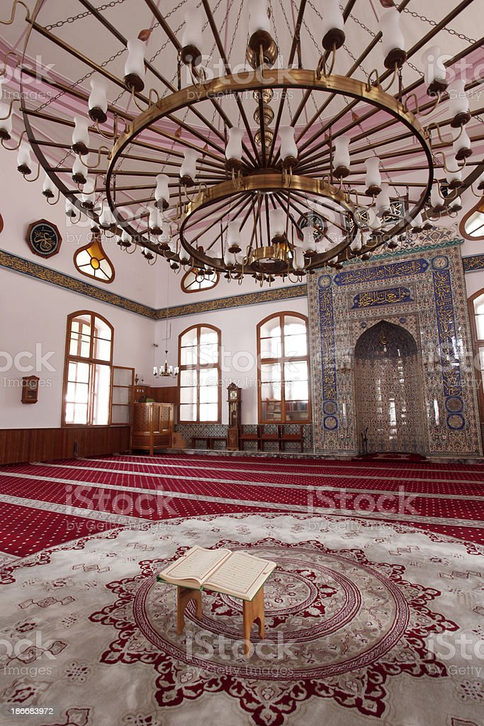 Koran on a wooden stand royalty-free stock photo