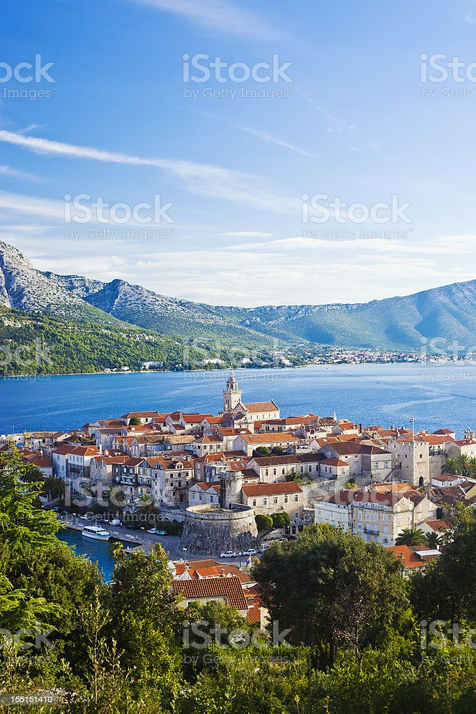 Korcula Island, Croatia stock photo