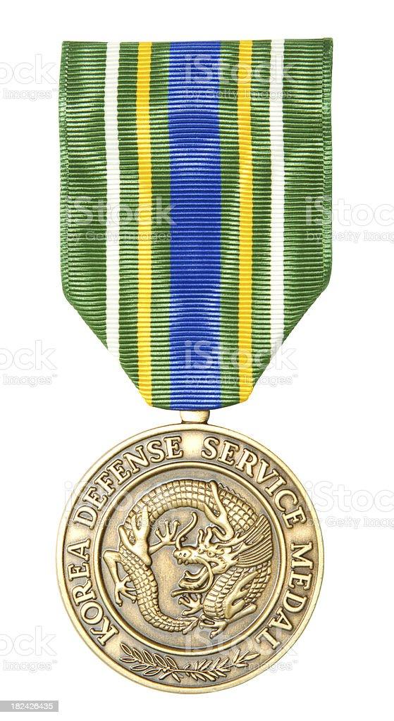 Korea Defense Service Medal royalty-free stock photo
