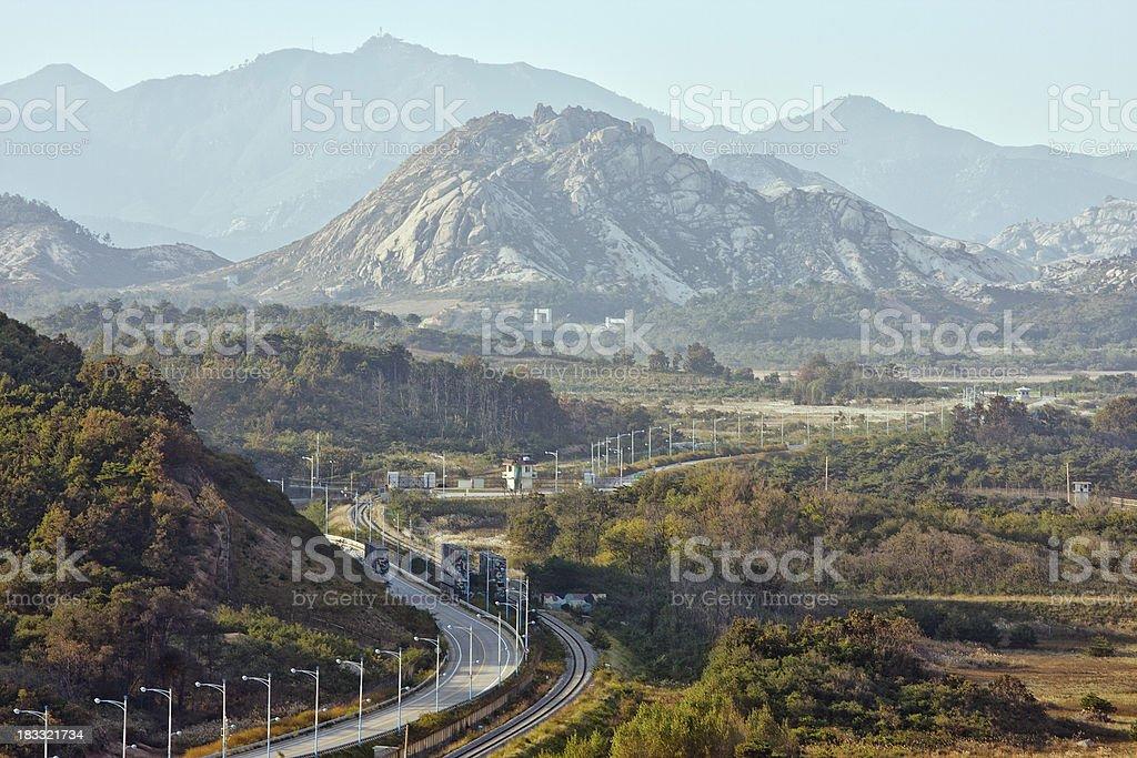 Korea DMZ and Diamond Mountains stock photo