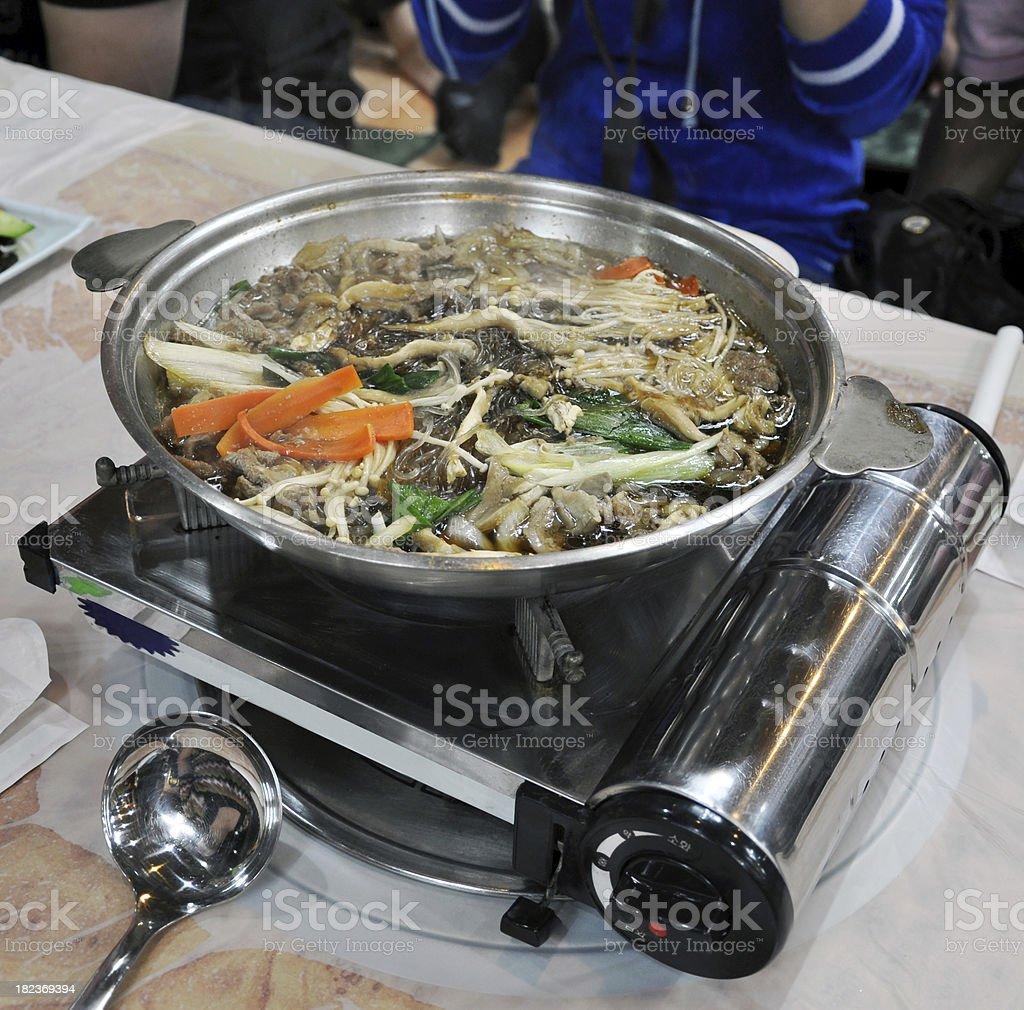 Korea Food - Chafing Dish stock photo
