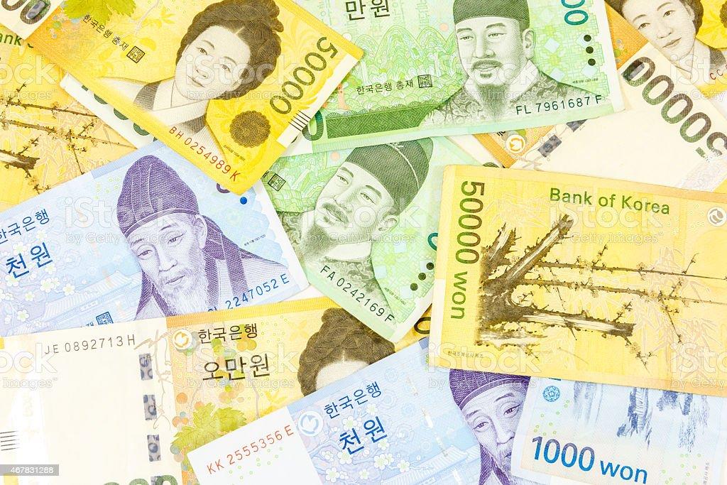 Korea money stock photo