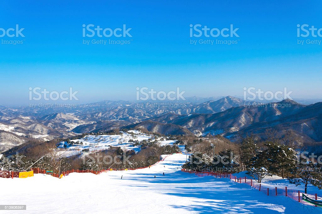 Korea Ski Resort stock photo