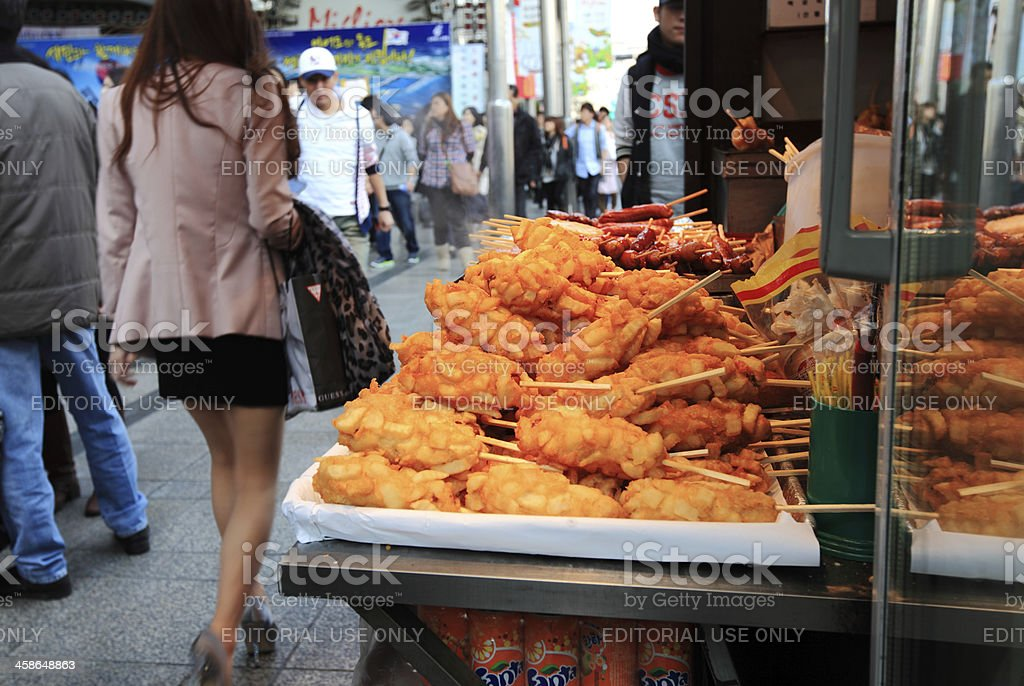 Korea Street Food royalty-free stock photo