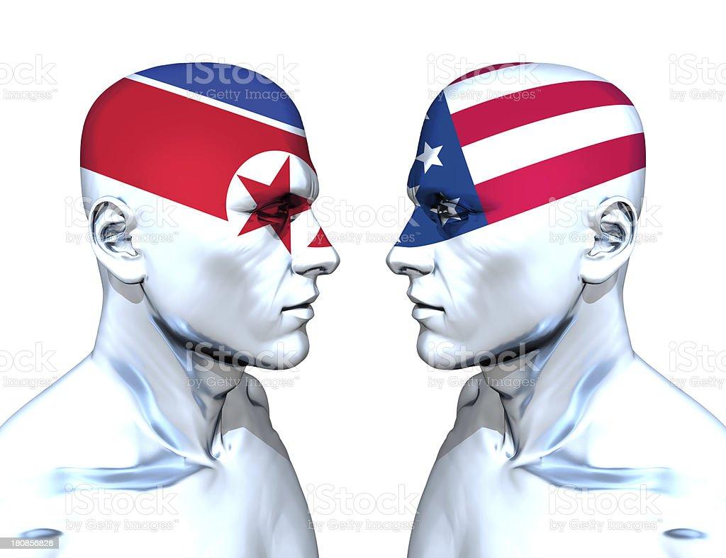 Korea vs USA stock photo