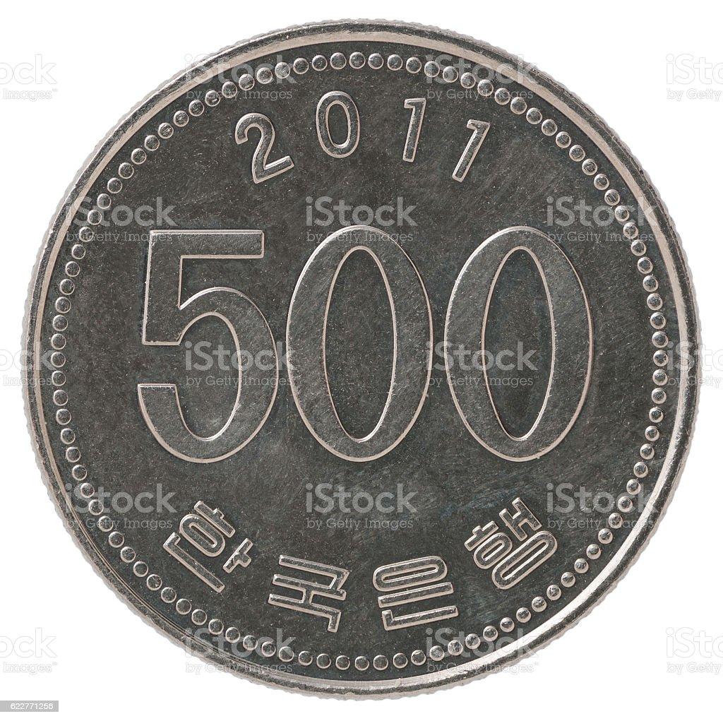 Korean 500 won stock photo