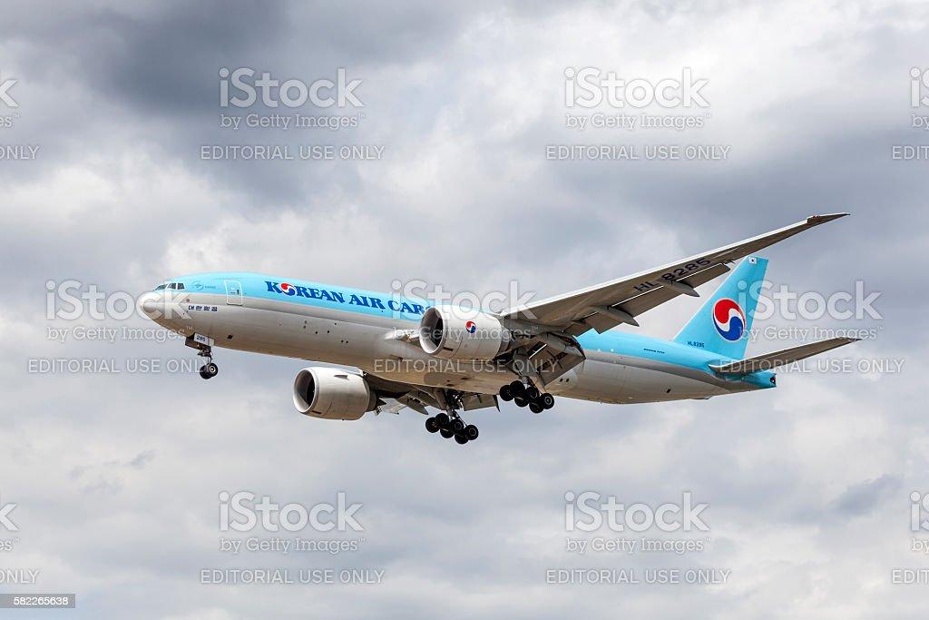 Korean Air Boeing 777F stock photo