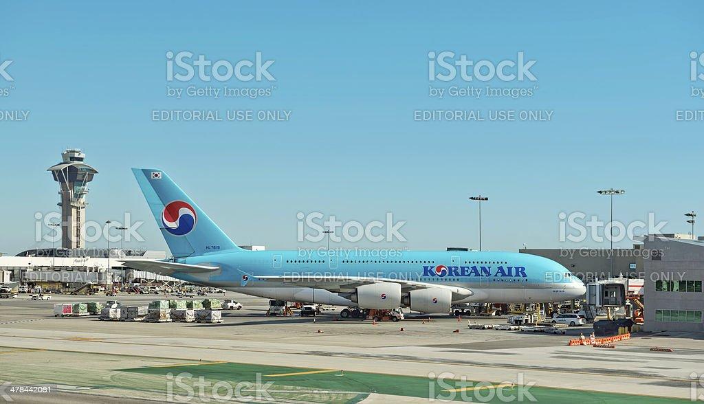 Korean Air Super Jumbo stock photo