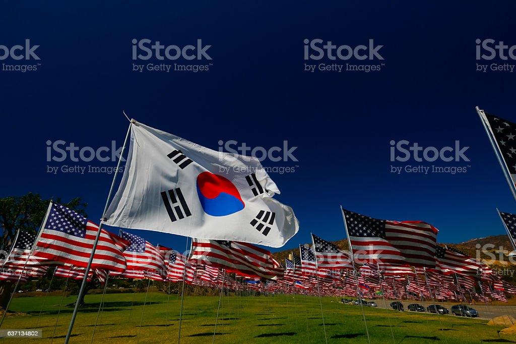 Korean American Relations stock photo